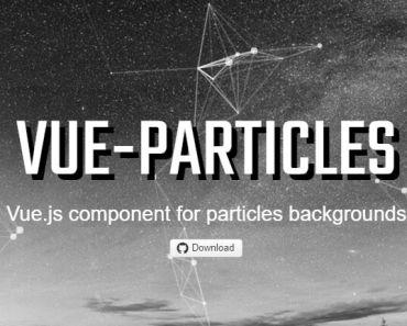 Vue.js Component For Particles Backgrounds