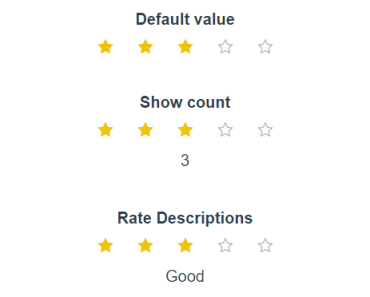 Rate component for Vue - vue-rate