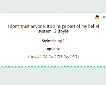 Simple Vue Draggable Dialog Component