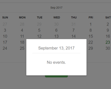 Days Calendar Component For Vue.js