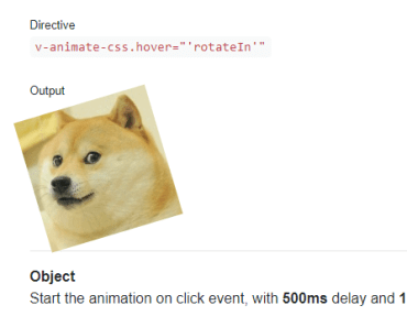 Vue Directive For Animate.css
