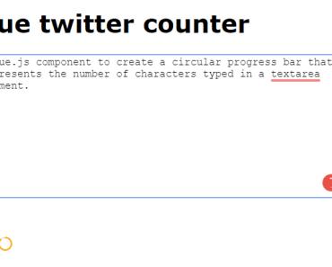 Circular Text Counter For Vue.js