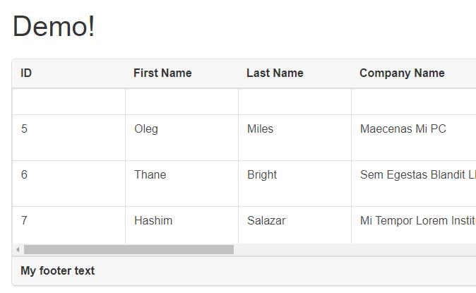Scrolling Table Component For Vue js - Vue js Script