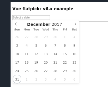 Vue.js Component for Flatpickr Datetime Picker