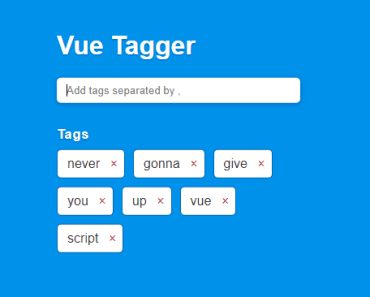 Simple Tag System For Vue.js