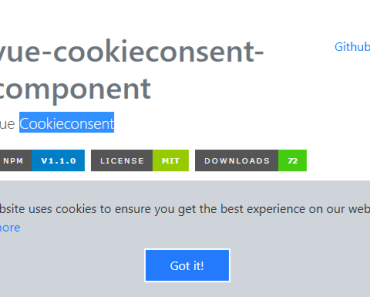 Cookie Consent Plugin For Vue.js
