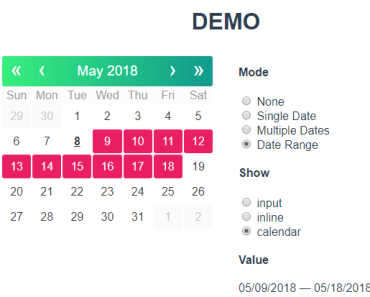 Tiny Multifunctional Date Picker For Vue.js