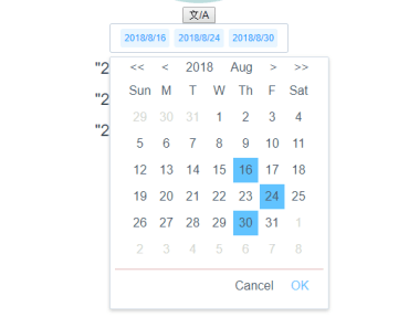 Multiple Date Picker Component For Vue.js