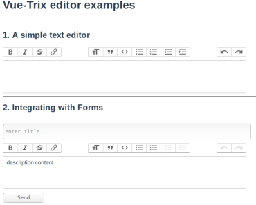Trix Rich Text Editor For Vue.js