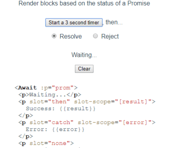 Render Blocks Based On The Status Of A Promise - vue-await