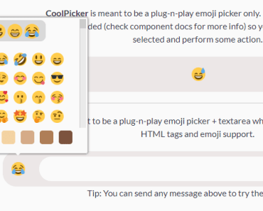 Cool Emoji Picker For Vue.js