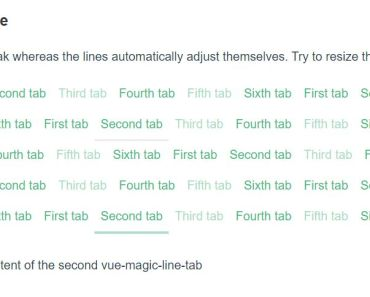 Flexible Tabs Component - vue-magic-line