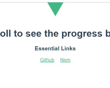 Page Scroll Progress Bar For Vue.js