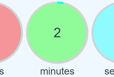 Circular Countdown Timer For Vue.js