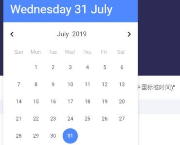 Nice Clean Date Picker For Vue.js