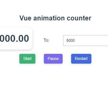 Animated Counter For Vue.js - VueNumber