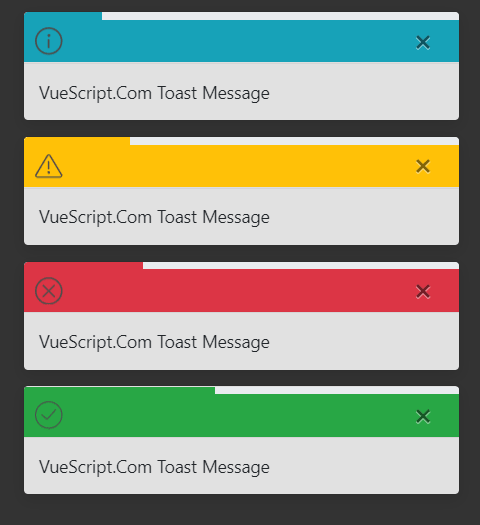 Create Beautiful Toast Message Using Vue And Bootstrap 4