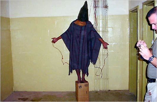 The Hooded Man of Abu Ghraib