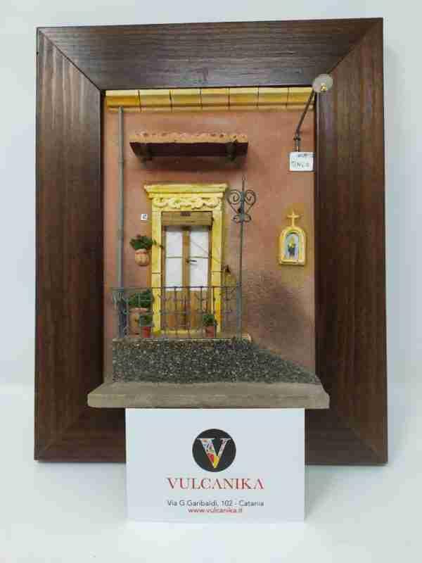 Riproduzione facciata casa siciliana