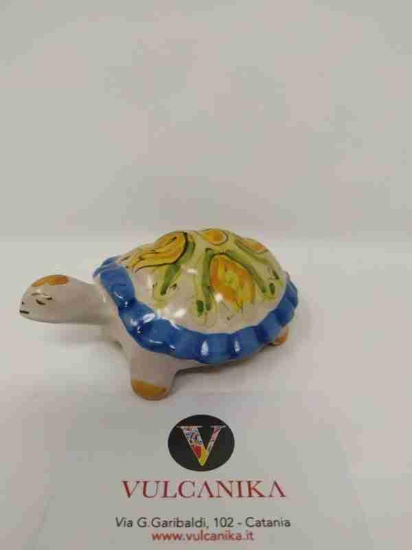 Tartaruga in Ceramica di Caltagirone dipinta a mano