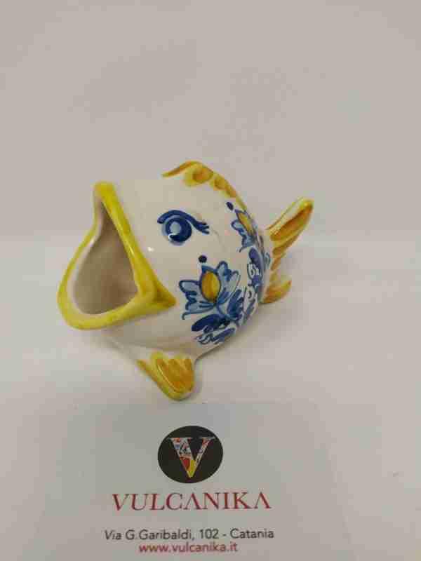 Pesce bocca larga in ceramica di Caltagirone