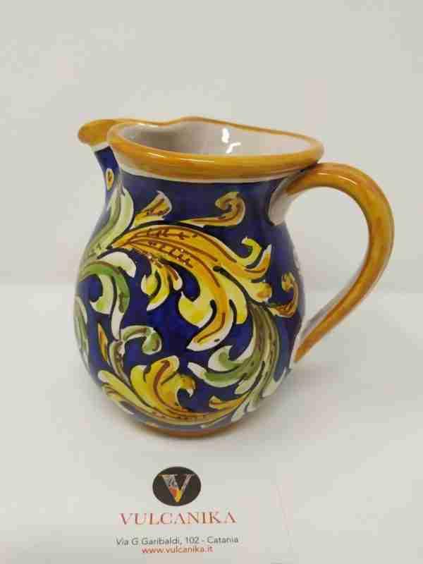 Brocca vino in ceramica di Caltagirone