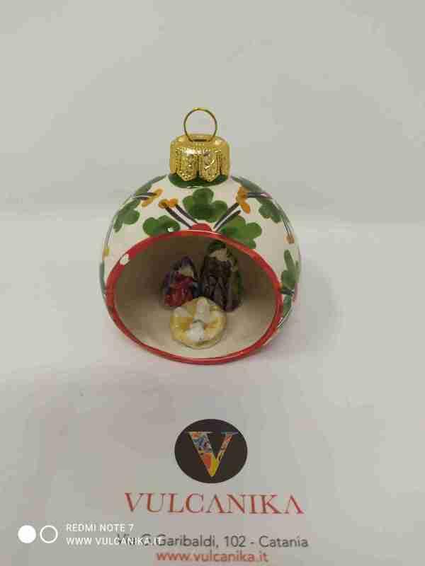 Palla di Natale con Presepe