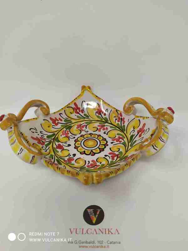 Ciotola in Ceramica di Caltagirone dipinta a mano