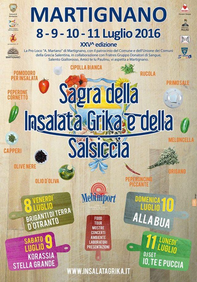 Sagra dell'insalata grika e della salsiccia a Martignano