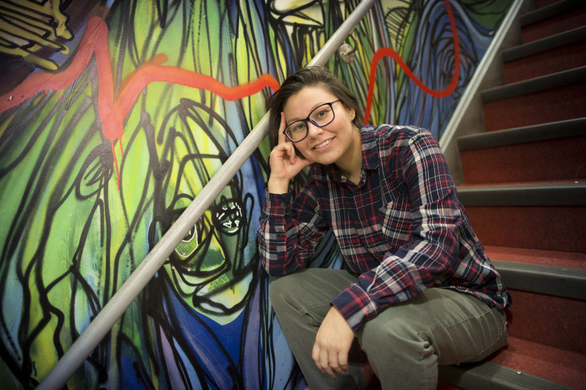 TORONTO, ON - DECEMBER 13  - Bella is a precariously housed young person who has been helped by Street Youth Legal Services, which just received base funding from Queen's Park this fall. December 13, 2016. Bernard Weil/Toronto Star