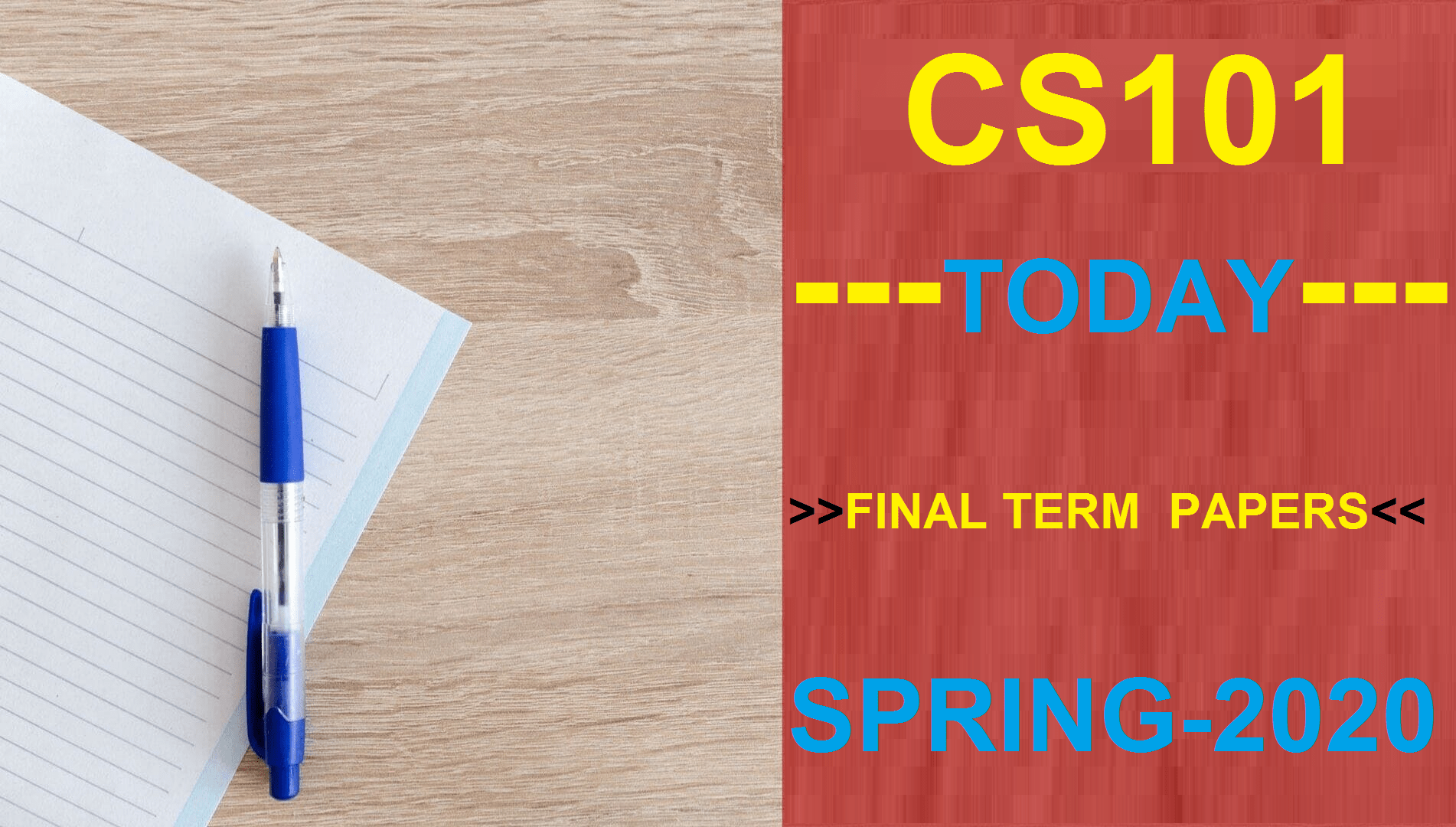 CS101 FINALTERM PAPERS SPRING 2020