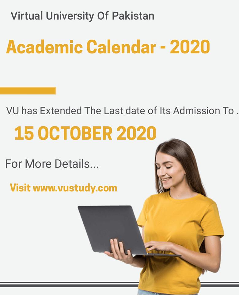 Virtual University Academic Calendar 2020