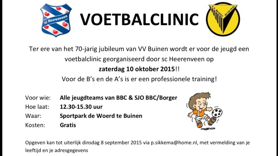 Poster voetbalclinic