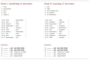 VV Buinen kerstzaalvoetbal gieten a