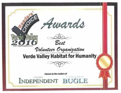 Reader's Choice Award for Verde Valley Best Volunteer Organization
