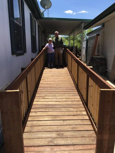 Barbers Wheelchair Ramp is Completed.....