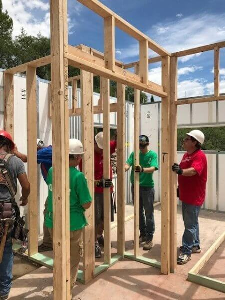 Wells Fargo Builds With Verde Valley Habitat