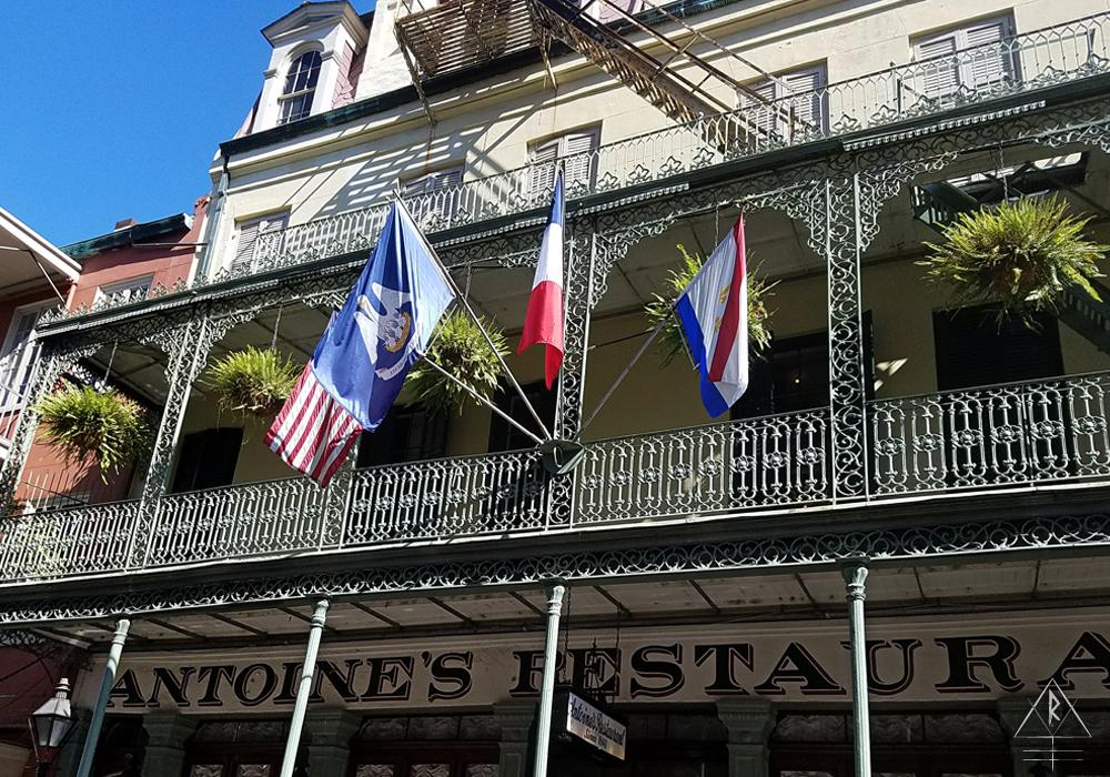 Storefront of Antoine's Restaurant. 713 St Louis St, New Orleans, LA 70130