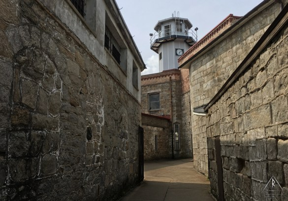 The Fortified Walls of Eastern State Penitentiary in Philadelphia, Pennsylvania.