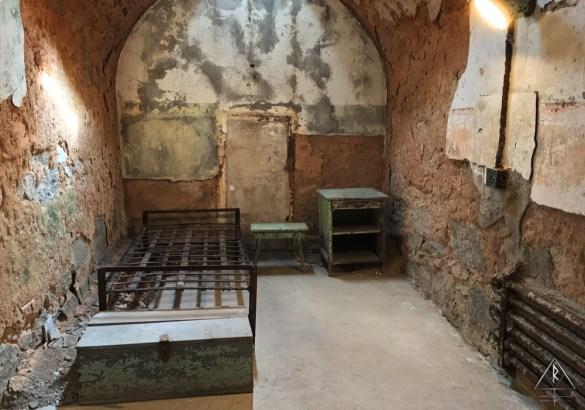 Restored Cell in the Eastern State Penitentiary of Philadelphia, Pennsylvania.