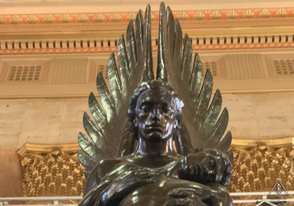 The Angel of 30th Street Station in Philadelphia, Pennsylvania.