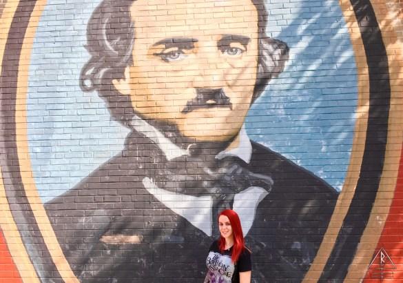 Edgar Allen Poe Street Art in Philadelphia, Pennsylvania.