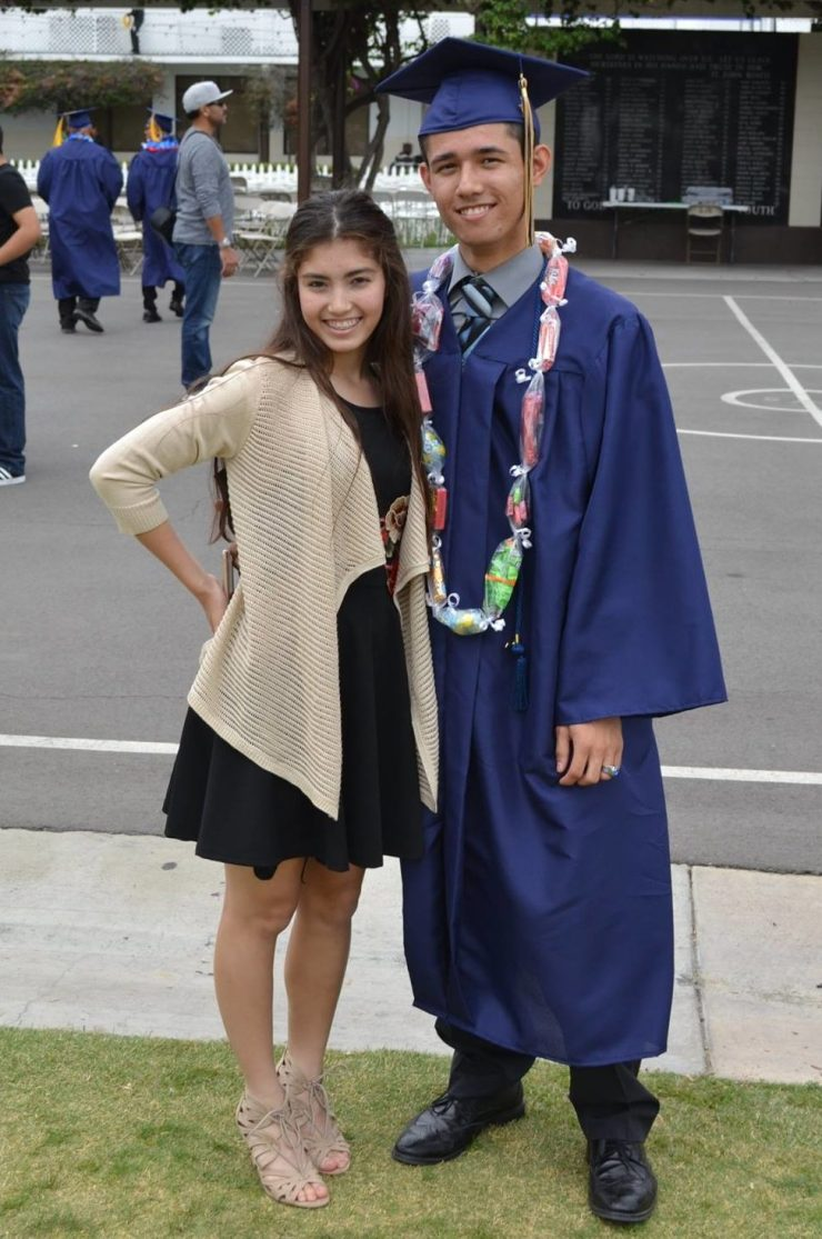 Michael, 17, and Lauren 15, were photographed by their mother, Glendale, on Michael's graduation day, June 1st. Glendale stated how proud she was of her children. (Facebook)