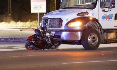 A man driving a Vespa scooter was killed after a crash in Apple Valley. (Gabriel Danny Espinoza)