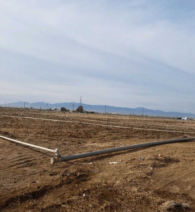 With grading expected to begin this week, the site for the new ARCO gas station has already been scraped and saturated for dust control.