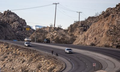 Eastbound Highway 18 was shutdown after a woman's body was found in the roadway. (Hugo C. Valdez, Victor Valley News)