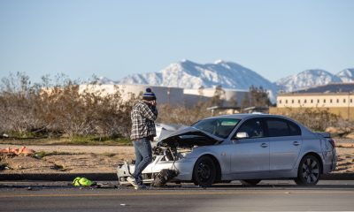 Sheriff's officials said an unlicensed teen was possibly using a cell phone when he caused the accident. (Hugo C. Valdez, Victor Valley News)