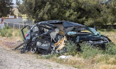 One person was killed in a three vehicle traffic collision on Bear Valley Road Sunday afternoon. (Hugo C. Valdez, Victor Valley News)