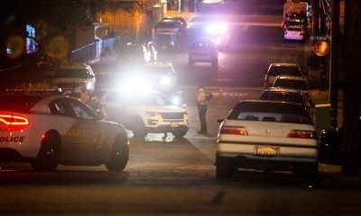 Police activity closed the street for over an hour Saturday night. (Gabriel D. Espinoza, Victor Valley News)