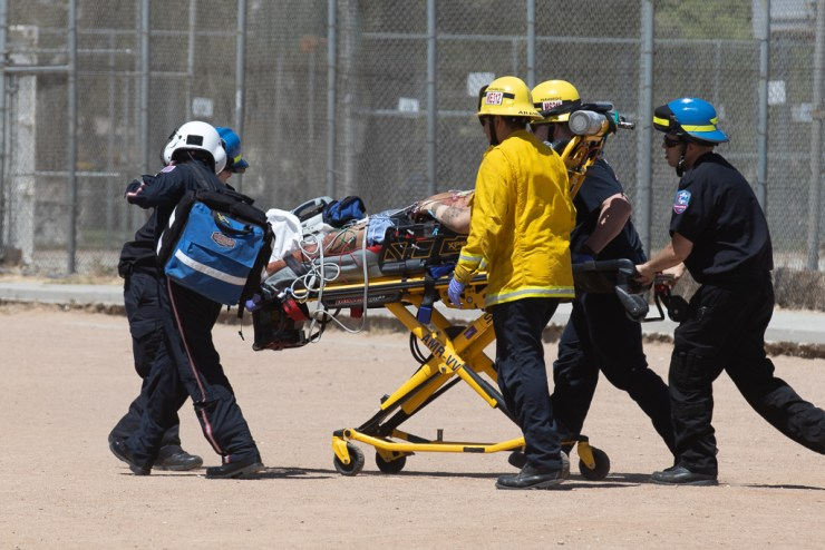 A man was airlifted he was shot twice in the chest. (Gabe Espinoza, VVNG)
